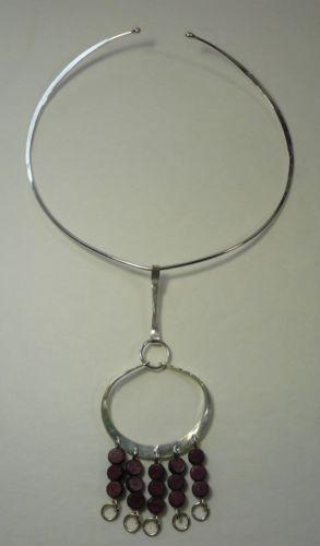 RARE Vintage Anna Greta Eker Sterling Silver Necklace Mid Century Norway