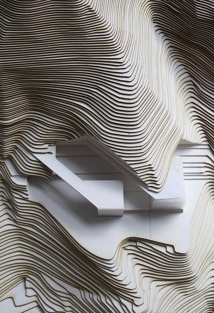 Pause for a moment and imagine making these landscape contours without a laser cutter.