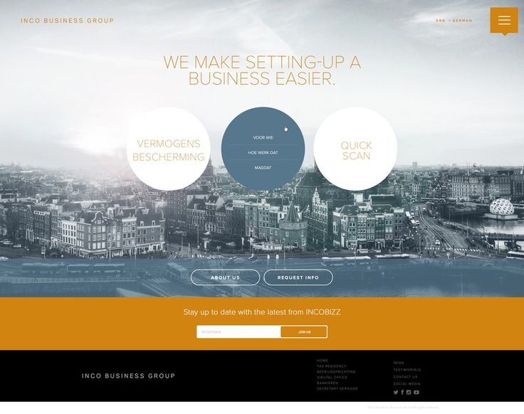 Modern and innovative Website for Corporate/Financial Service provider by Onesource Creative
