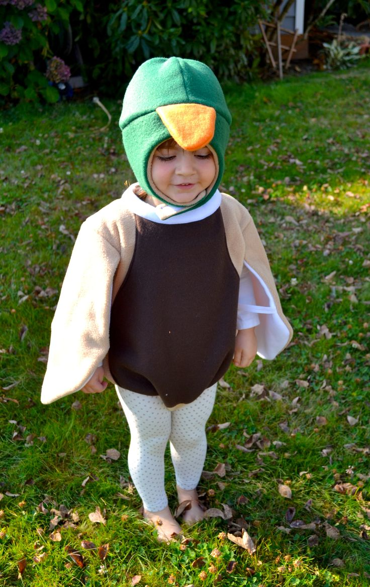 mallard duck costume - I can do see my brother doing this in the future, haha with bouy tagging along!