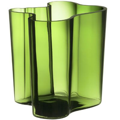 Alvar Aalto vase in green