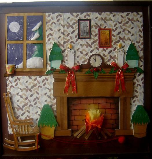 Winter and Christmas Bulletin Board Idea