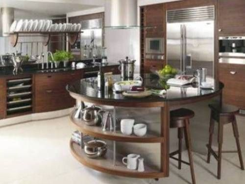 Modern Round Kitchen Island Interesting Ideas   Interior Design   The Round Kitchen  Islands Have Different Shapes And Designs To Match Your Modern Kitchen ...