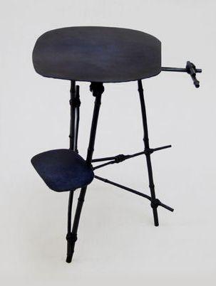 Gallery Fumi's Design Miami/Basel 2015 exhibition includes metal furniture by Max Lamb.