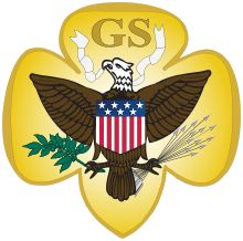 Designed by Juliette Low, the sole emblem of the Girl Scouts of the USA from 1912 until 1976