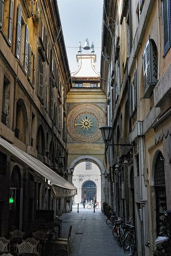 Brescia Town Clock by Gower Born, via Flickr. Brescia, Italy