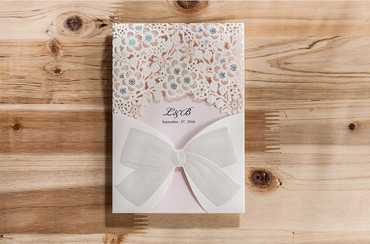 Pocket Wedding Invitation Cards, White Lace Invitation Cards, Beautiful Wedding Invitations, Lace Bridal Shower Invitation