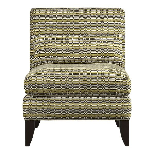 47 best add a splash of chartreuse images on pinterest for Crate and barrel armless chair
