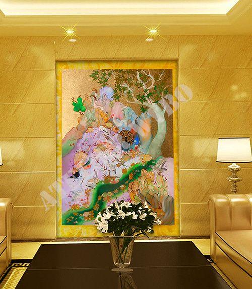 les 15 meilleures images du tableau papier peint japonais sur pinterest sur mesure tapisserie. Black Bedroom Furniture Sets. Home Design Ideas