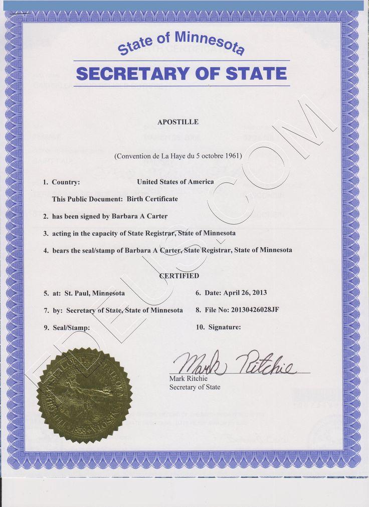 11 best apostille images on pinterest | birth certificate, births