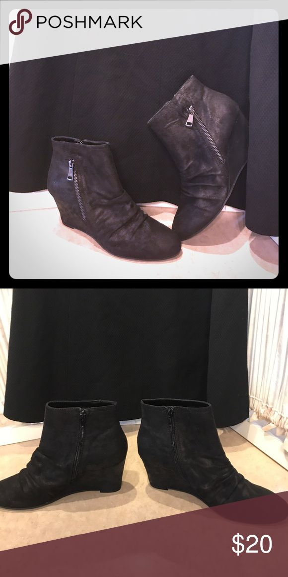 Carlos Santana boots Black suede like ladies boots with zippers on both sides.  Brand new! Carlos Santana Shoes Ankle Boots & Booties