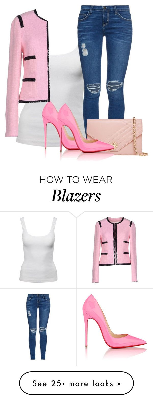 """Bônus track"" by adrielle260102 on Polyvore featuring Jane Norman, Current/Elliott, Tory Burch, Christian Louboutin and Edward Achour"