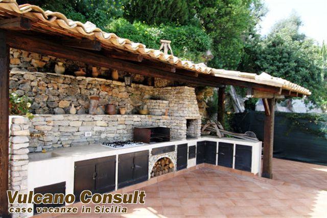 strutture esterne in legno cucine artigianali in muratura ...
