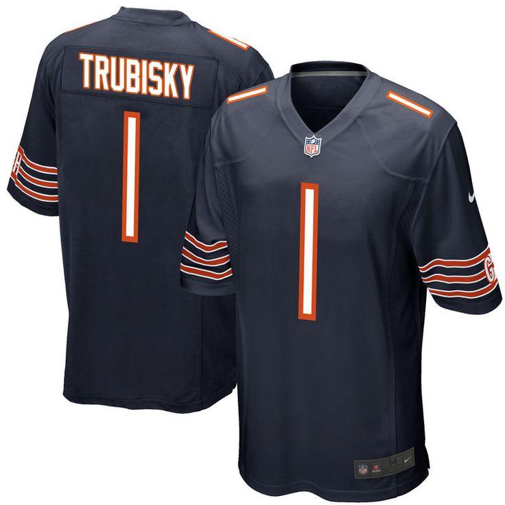 Mitchell Trubisky Chicago Bears Nike 2017 Draft Pick Game Jersey - Navy