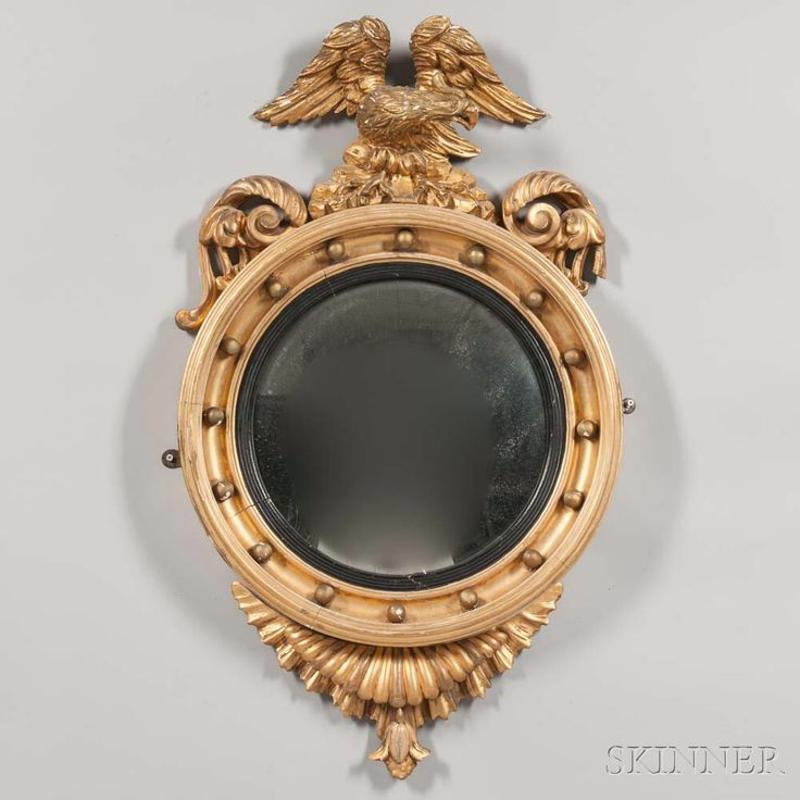 Classical Carved and Gilt-gesso Convex Mirror | Sale Number 2996M, Lot Number 103 | Skinner Auctioneers