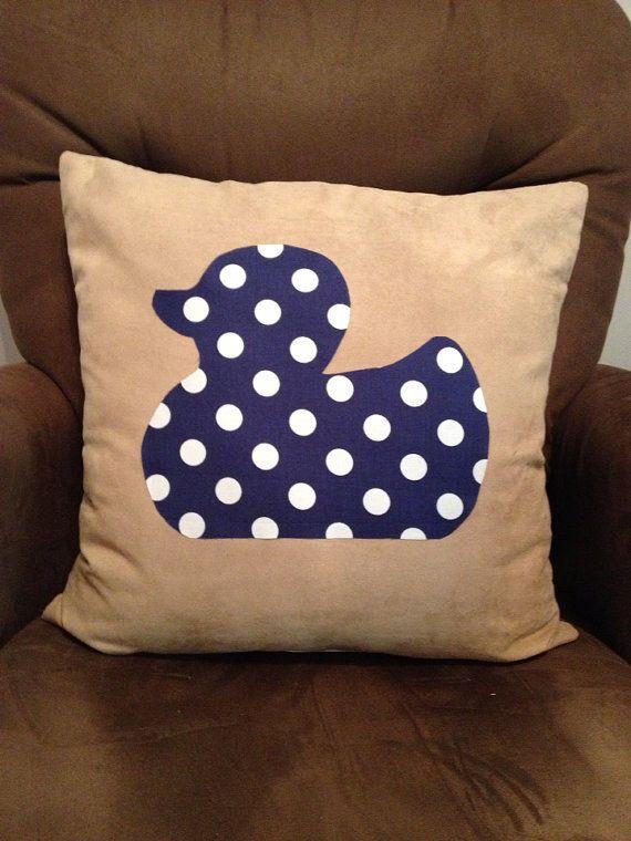 Rubber Duck Pillow Blue Nursery White Nursery Boy Nursery on Etsy, $35.00