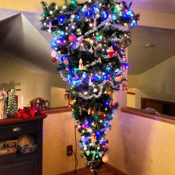 When Do U Take Down A Christmas Tree: It's Not An Optical Illusion, It's An Upside Down
