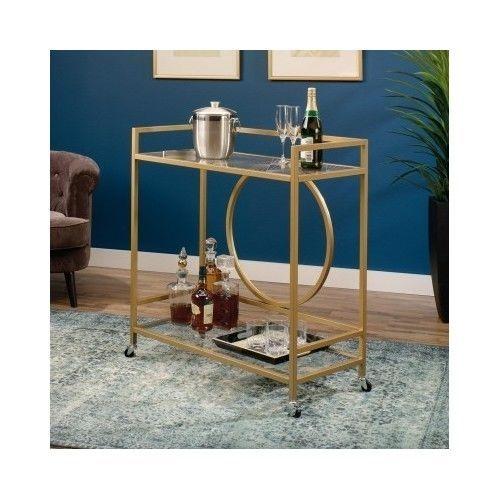 Vintage-Bar-Cart-Rolling-Serving-Tea-Wine-Liquor-Table-Metal-Kitchen-Trolley-Art