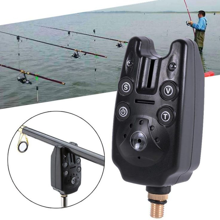Poissons Bite Alarme 2 LED Tone Volume Sonore Réglable Sensibilité Étanche Matériel De Pêche Drop Shipping