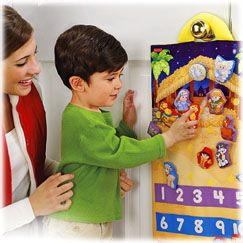 It is hard to find a Christian advent calendar.  I really like this one by Little People.  Use along with a guide for daily scripture reading.  Advent starts Nov 27!!