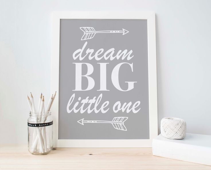 Nursery Wall Art, Grey Nursery, Grey White Decor, Purple Decor, Boys Nursery, Baby Boy Decor, Arrow Print, Dream Big Little One, Baby shower by PartyInked on Etsy https://www.etsy.com/listing/247425787/nursery-wall-art-grey-nursery-grey-white