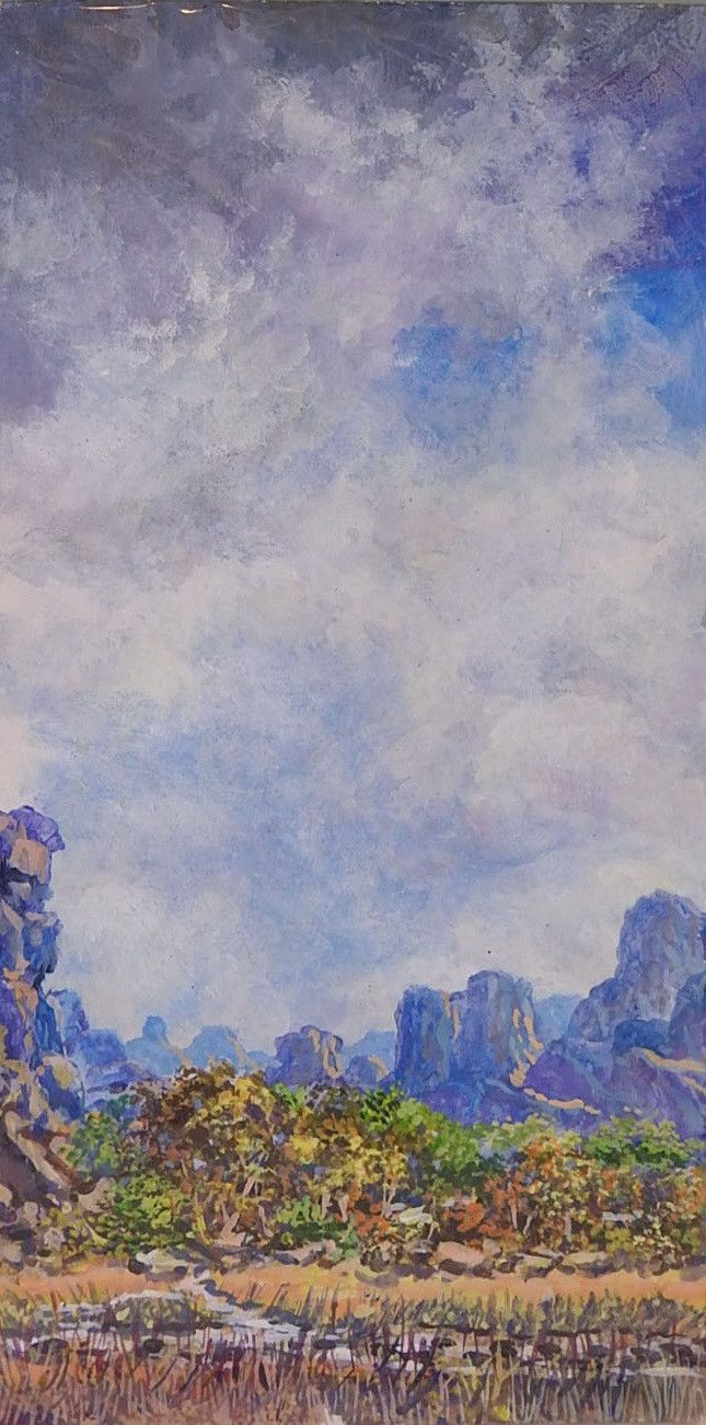 Watercolor artists in texas - Big Sky By Simon Michael Texas Artist