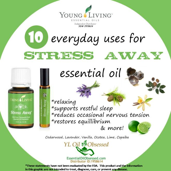Stress Away Essential Oil Blend Essentialoilobsessed Com