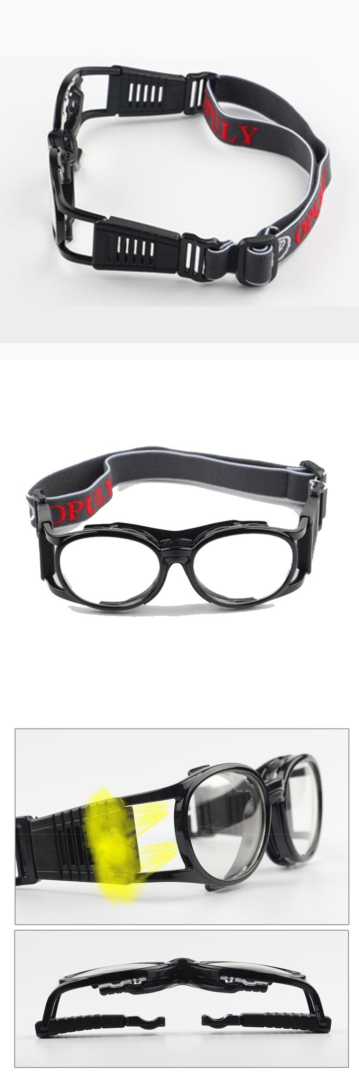 Retro Children Basketball Glasses Slimfit Lens Exchangeable Kids Protective Sports Eyeglasses Volleyball Football Safety Goggles