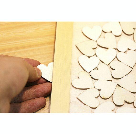 Rustieke bruiloft gast boek Drop Box 3D bruiloft gast boek