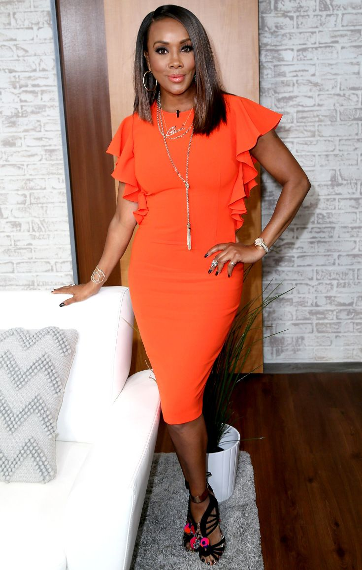 Vivica wrap dress - The Best Dressed Stars From Last Night Carpets Foxes And Poetic Justice