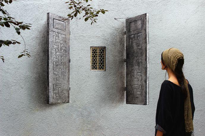 Забавный стрит-арт от художника Pejac - Yuterra Colors
