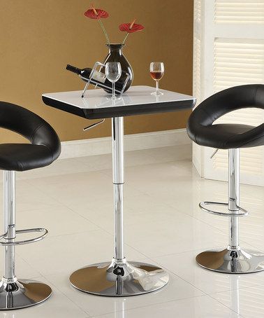 This Black Barcelle Adjustable Swivel Bar Stool - Set of Two is perfect! #zulilyfinds
