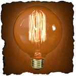 G30 Vintage Antique Light Bulb | Victorian Style | 40 Watt.     $11.69 each, but pretty sure I MUST have 6 of them for my dining room.