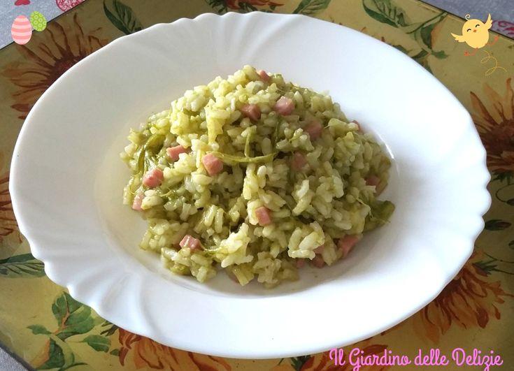 Il risotto prosciutto ed asparagi è un delicato e pure gustoso primo piatto adatto a questa stagione ed al periodo Pasquale insaporito da prosciutto cotto