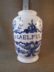 Lilly Pharmaceutical Blue and White Vase Urn Apothecary 1989 Portugal Fabulous