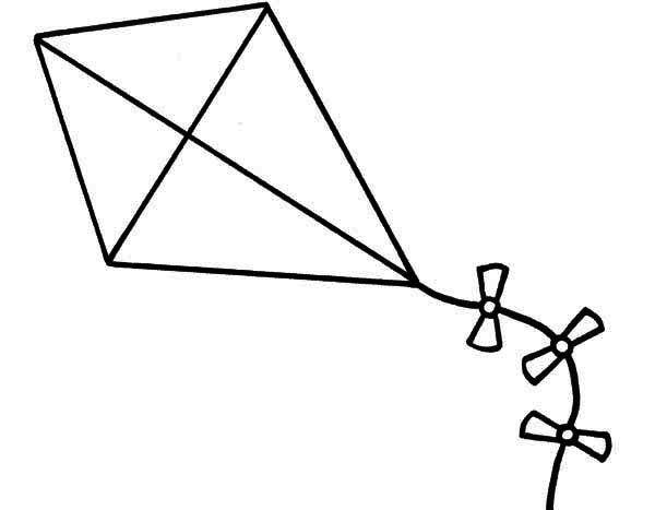 Image result for kite clipart black and white lett