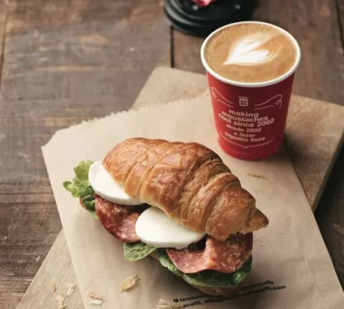 A delicious croissant filled with your favourite protein to start the day off. Add to that a cup of coffee. Perfect.