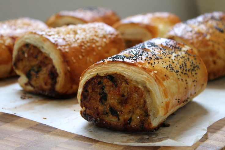 Pork, sage and onion sausage rolls