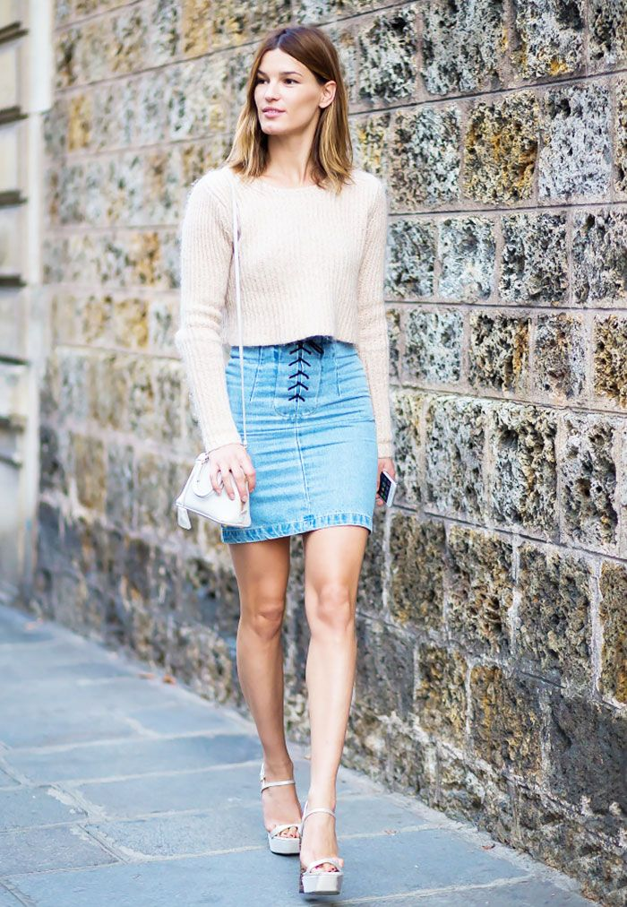 17 Best images about Blue on Pinterest | Mini skirts, Blue skirts ...