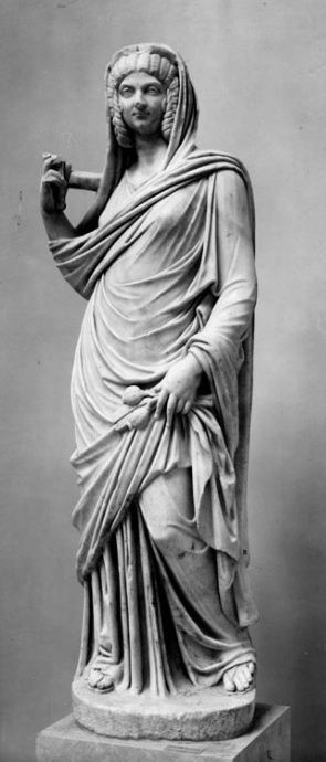 Statue of Iulia Domna as Ceres  Found on the Piazzale di Giulia Domna on the Decumanus  Museo Ostiense