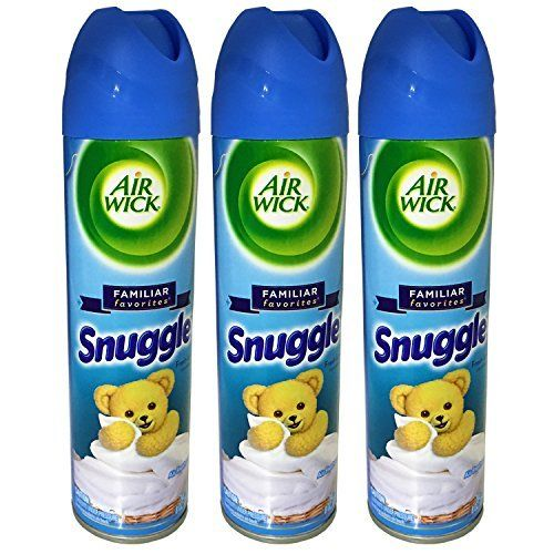 Air Wick Aerosol Room Spray Air Freshener, Snuggle Fresh Linen, 8 Ounce, Pack of 3:   Air Wick Aerosol Eliminates Odors  Provides a premium fragrance to compliment your home  Acts in seconds  Scents last up to 1 hour  Air Wick quality Aerosol spray air fresheners help eliminate strong odors and contain a 100% natural propellant