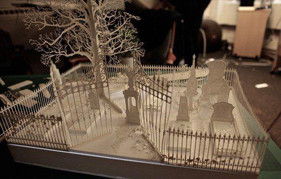 Архитектурные макеты вырезанные из бумаги от Davy & Kristin McGu – 14 фотографий