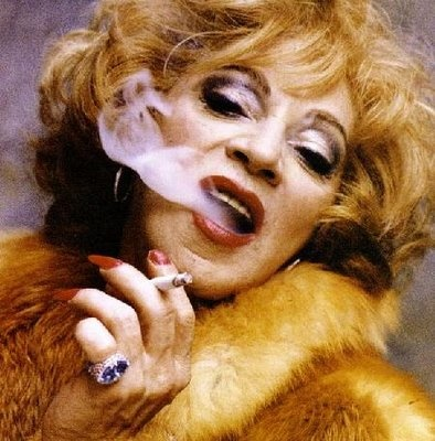 Holly Woodlawn today. Still glamorous & still standing. Miss Holly is living in West Hollywood in semi retirement. Check her out at hollywoodlawnsuperstar.com