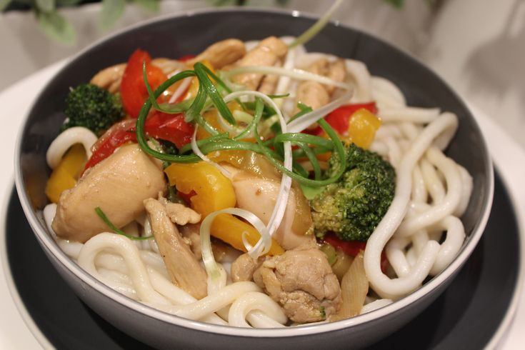 Chicken Teriyaki Udon - Awesome for a busy night // Cook Up A Passion ♥ Chicken Teriyaki Udon is not only one of our little family favourites recipes for a busy night but also a healthy choice for any other time. You will love it, I am sure!