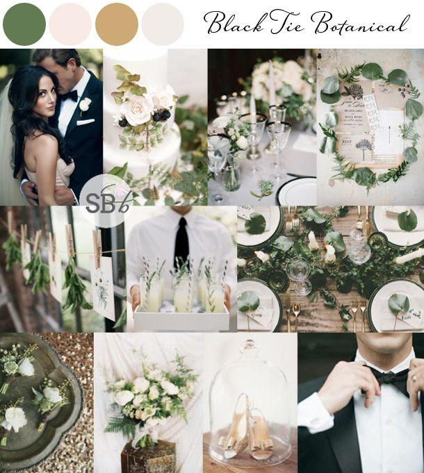 Black Tie Botanical | 10 Botanical Wedding Inspiration Boards | SouthBound Bride www.southboundbride.com/10-botanical-wedding-inspiration-boards