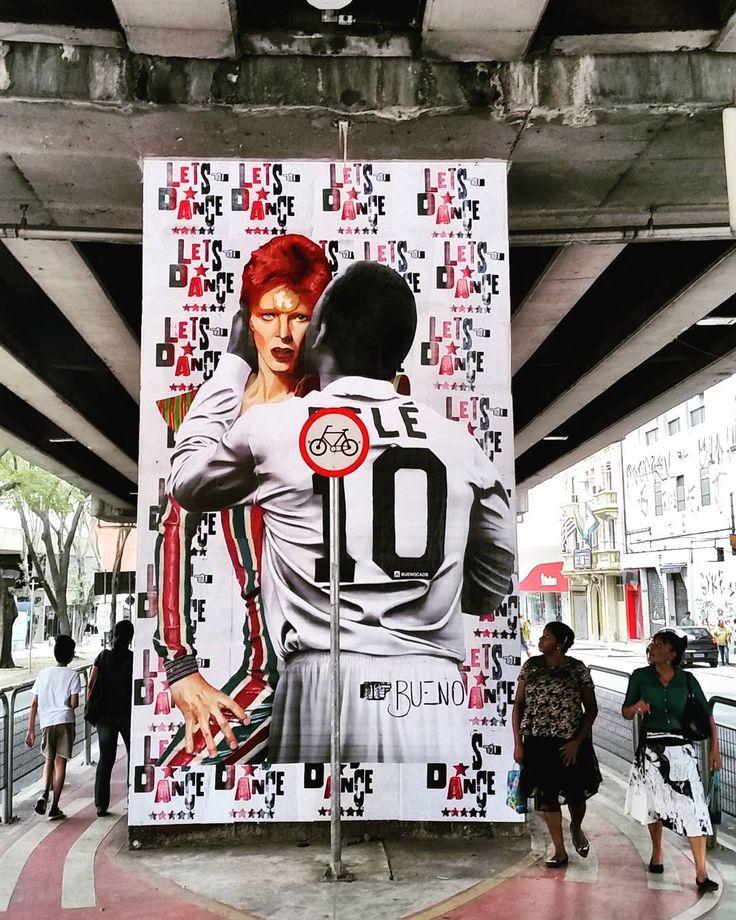 Bowie + Pelé = StreetArt By @buenocaos