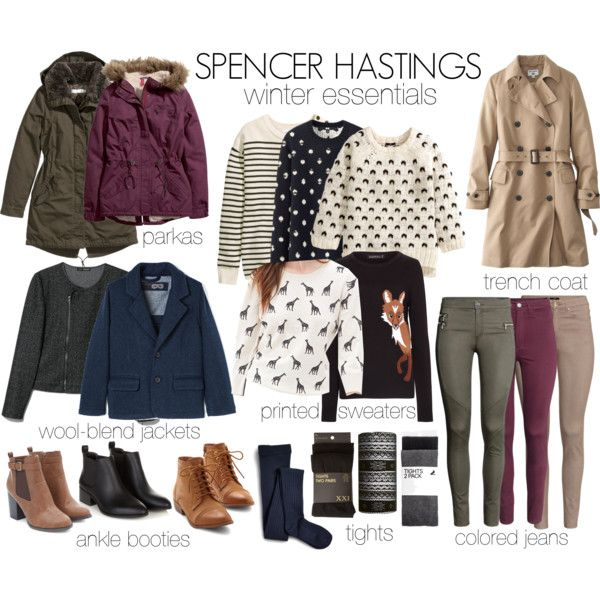 Spencer Hastings inspired winter/fall essentials by liarsstyle on Polyvore featuring H&M, Forever 21, Sugarhill Boutique, Uniqlo, MANGO, Sperry Top-Sider, essentials and WF