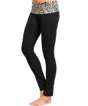 Simplicity Ladies Yoga Pant Leggings w Fold Over Waistband, 4 Prints