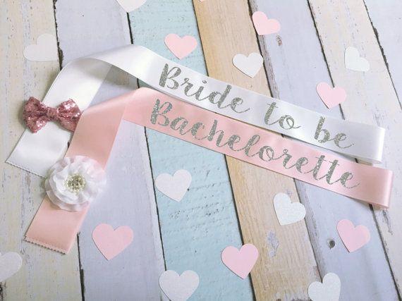 Bachelorette Sash Bow By BrideAndEntourage
