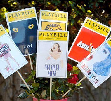 Broadway Party Playbills Centerpiece Idea - Perfect for Bar Mitzvahs